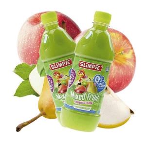 Slimpie zuckerfreier Limonaden Sirup Mixed Fruit 580 ml, zuckerfreier Sirup.