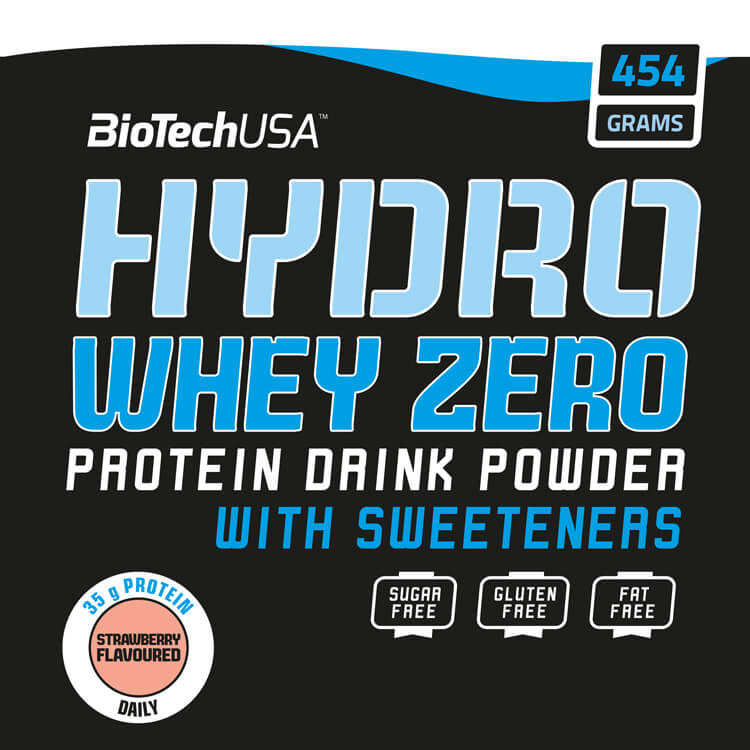 BioTech USA Hydro Whey Zero 454 g. Eiweißpulver / Protein / Whey Hydrolysat kaufen. BioTech USA Hydro Whey Zero 454 g Pulver online kaufen. Aktionspreis