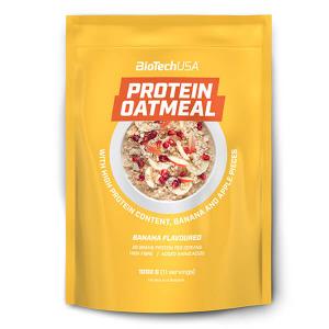 BioTech USA Protein Oatmeal Früchtebrei Bananen- und Apfelstückchen 1.000 g kaufen. BioTech USA Protein Oatmeal Früchtebrei, Backmischung ohne Zucker Zusatz kaufen!