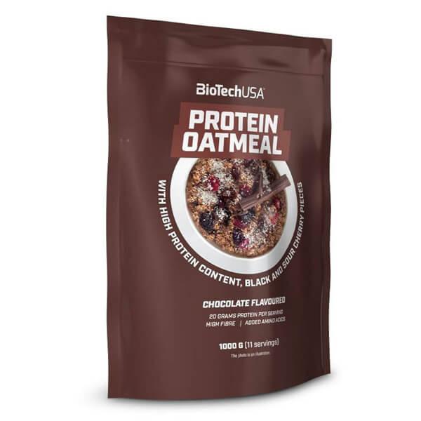 BioTech USA Protein Oatmeal Früchtebrei Schokolade mit Sauerkirsche und Kirschstückchen 1.000 g Packung. BioTech USA Protein Oatmeal Früchtebrei online kaufen!