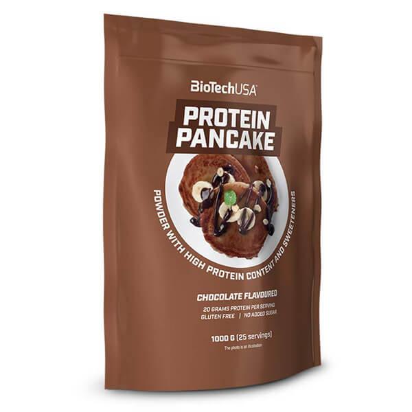 BioTech USA Protein Pancake Pulver Schokolade 1.000 g Packung. Low Carb Pancake / Low Carb Pfannkuchen, 50g Eiweiß. BioTech USA Protein Pancake kaufen!