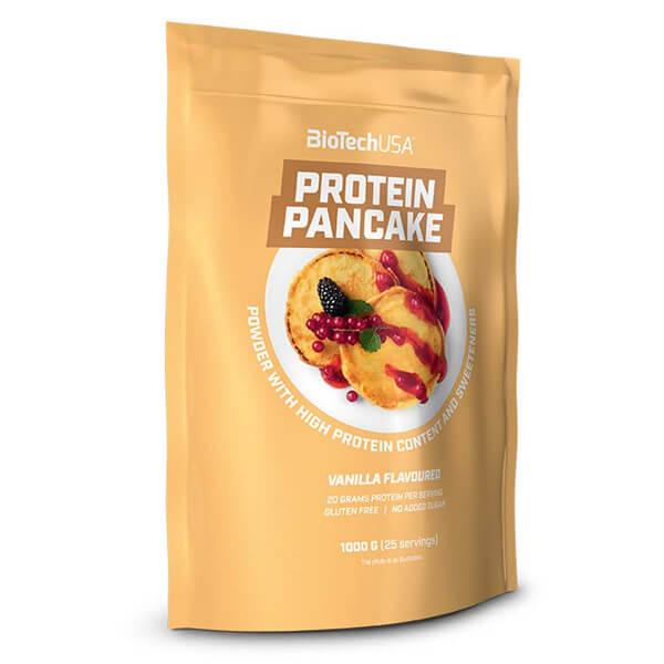 BioTech USA Protein Pancake Pulver Vanille 1.000 g Packung. Low Carb Pancake / Low Carb Pfannkuchen, 53g Eiweiß. BioTech USA Protein Pancake Pulver kaufen!