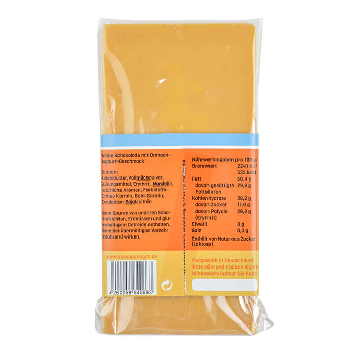 Handgeschöpfte Schokolade zuckerfrei Orange Joghurt No Sugar Sugar kaufen.