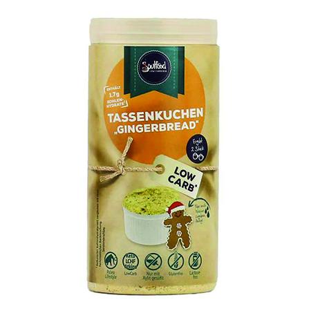 Low Carb Tassenkuchen Gingerbread Soulfood LowCarberia 100 g Lebkuchen kaufen. Low Carb Lebkuchen Backmischung. Ohne Zucker, gesüßt mit Xylit online kaufen!
