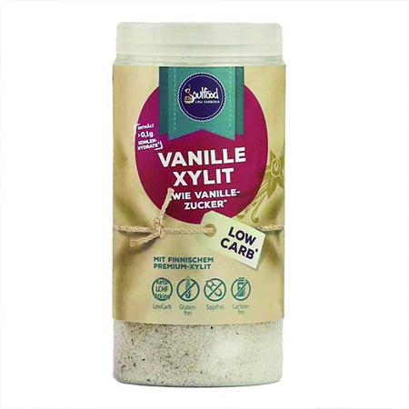 Vanille Xylit Soulfood LowCarberia 125 g. Vanillezucker Ersatz kaufen Xylit. Zuckerfreier Vanille Zucker Ersatz auf Basis von Xylit / Birkenzucker kaufen!