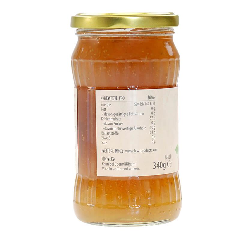 LCW Gourmet Fruchtaufstrich Feige. Fantastisch süß & fruchtig, ohne Zuckerzusatz, kalorienarm, hoher Fruchtgehalt: 136 g Früchte / Feige in einem Glas 340 g, zuckerfreie marmelade lcw