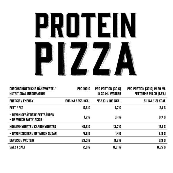 GOT7 Protein Pizzateig Mischung 500 g Dose kaufen. Protein Pizzateig kaufen von GOT7 für 17 Portionen Pizza. 29,5 g Eiweiß / 100 g Protein Pizzateig. Kaufen