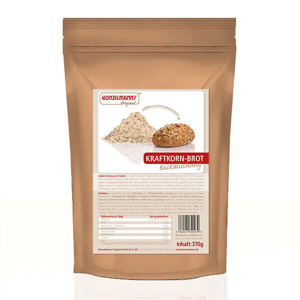 Konzelmanns Original Low-Carb Brotbackmischung Kraftkornbrot 370 g kaufen. Low Carb Brot, Low Carb Kraftbrot kaufen. Low Carb Brotbackmischung online kaufen