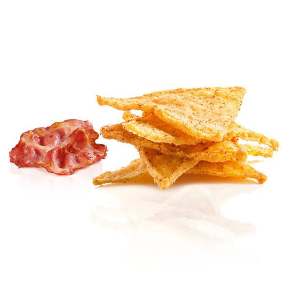 Konzelmanns Original Low-Carb Knabbergebäck Protein Nachos Bacon Speck 30 g Beutel