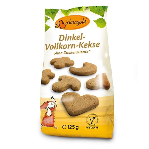 Birkengold Dinkel-Vollkorn-Kekse mit Xylit 125 g kaufen. Birkengold Kekse kaufen im Zucker-frei Shop. Zuckerfreie Kekse, vegan. Aroma, zarte Vanille & Zimt!