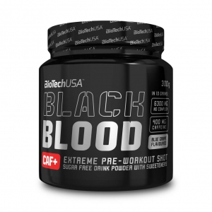 BioTech USA Black Blood CAF+ Pre Workout Booster Cola 300 g Dose kaufen. 400 mg Koffein, 6.300 mg NOX-Rezeptur. BioTech USA Black Blood CAF+ Cola kaufen!