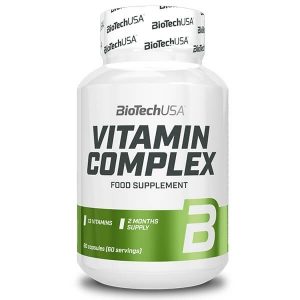 BioTech USA VITAMIN COMPLEX 60 Tabletten. 13 Vitamine und 10 Mineralien, Zweimonatspackung. BioTech USA Vitamin Complex 60 Tabletten online kaufen