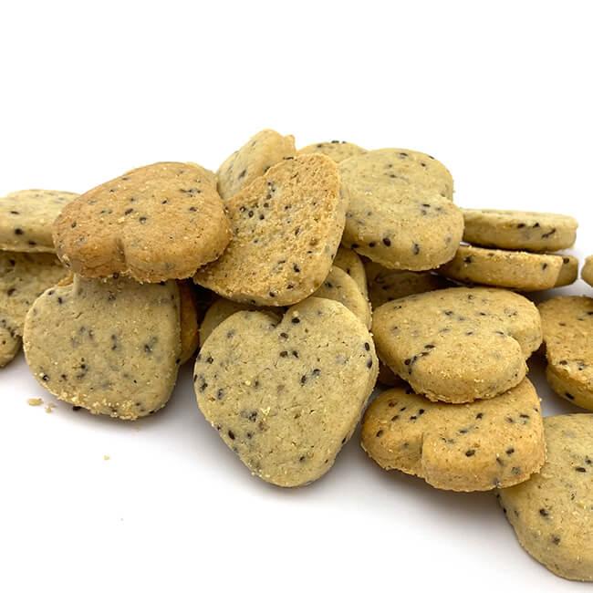 Birkengold Chia-Hafer-Kekse 125 g ca. 37 Stück. 125 g sind ca. 37 Stück Kekse! Kalorienreduziert nur 465 kcal / 100 g.