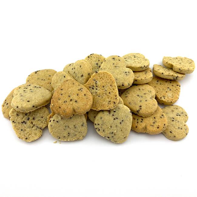 Birkengold Chia-Hafer-Kekse nur 465 kcal / 100 g. Nur mit reinem europäischem Xylit gesüßt. Proteinreich / pflanzliche Proteinquelle 7,2 g / 100 g. Xylit hat rund 40% weniger Kalorien