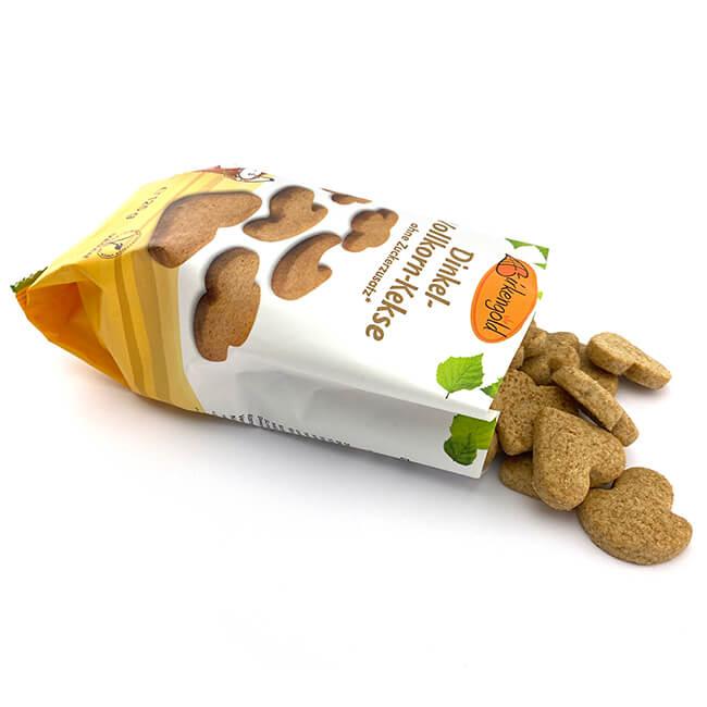 Birkengold Dinkel Vollkorn Kekse 125 g. Dinkel-Vollkorn Kekse ohne Zucker Zusatz & Zusatzstoffe. Nur mit reinem europäischem Xylit gesüßt, veganes Kekse Gebäck