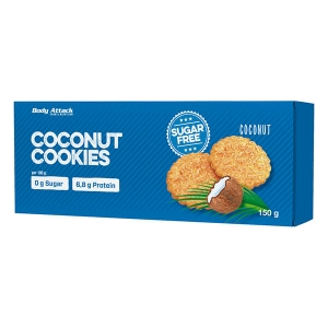 Body Attack Low Sugar Cookies Kekse Coconut Kokos 150 g Packung kaufen. Body Attack Low Sugar Cookies Kekse Coconut / Kokos, zuckerarm, 12g Protein,...