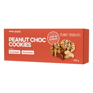 Body Attack Low Sugar Cookies Kekse Peanut Chocolate - Erdnuss Schoko 125 g Packung kaufen. Body Attack Low Sugar Cookies Kekse, zuckerarm, 12g Protein,...