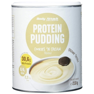 Body Attack Proteinpudding Cookies and Cream 210 g Dose online kaufen. Body Attack Proteinpudding Cookies and Cream mit 30 g Eiweiß / Protein kaufen. Protein Pudding kaufen, Proteinpudding bestellen.