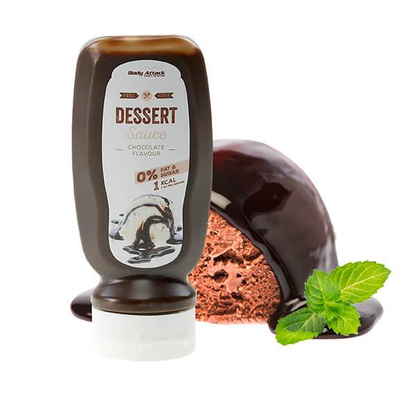 Body Attack zuckerfreie Dessertsauce Sirup Schokolade 320 ml kaufen. Schoko Low Carb Sauce online kaufen. Ohne Zucker Zusatz. Body Attack Schokosauce kaufen