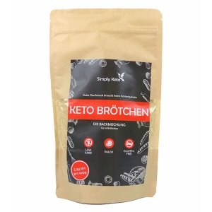 Simply Keto Brötchen glutenfrei laktosefrei keto paleo Backmischung 340 g kaufen. 2,5 g KH, 100% Paleo, Keto, glutenfrei & zuckerfrei. Simply Keto Brötchen!