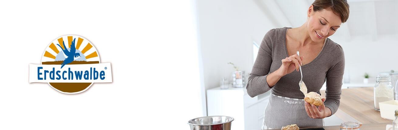 Erdschwalbe Produkte online kaufen. Erdschwalbe Low Carb Kuchen, Low Carb Backmischungen