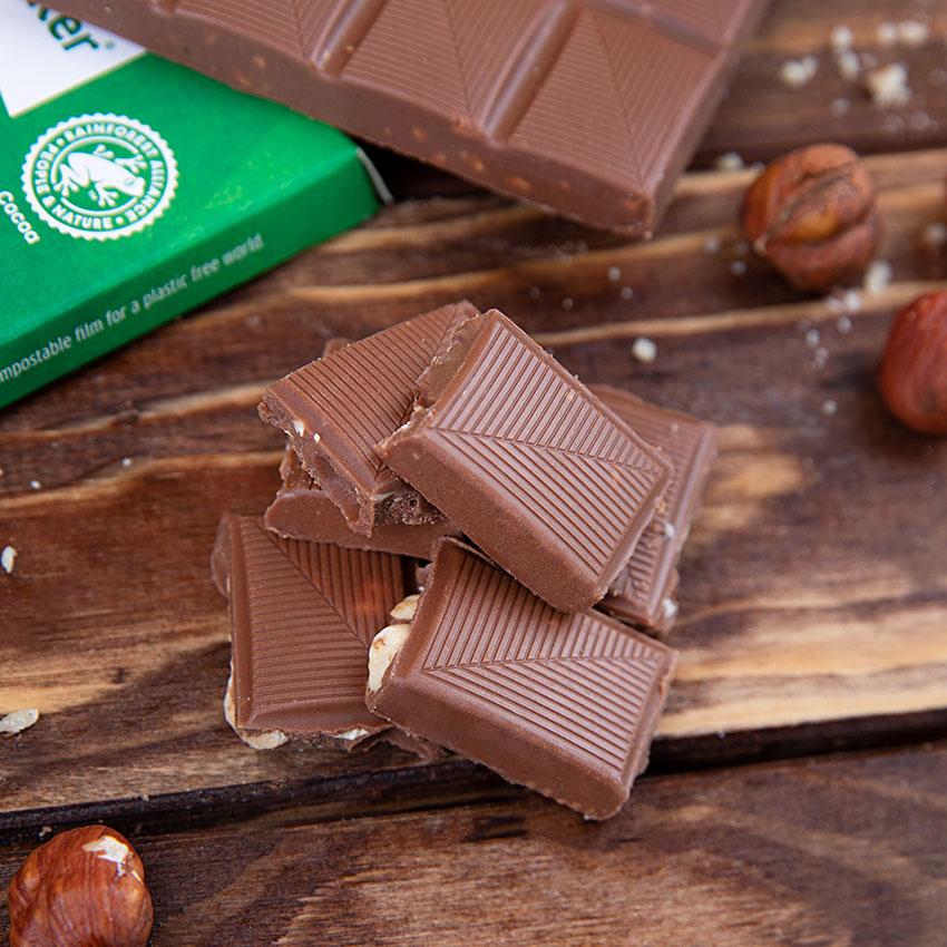 XUCKER Edel Vollmilch Schokolade mit Haselnuss 80 g Tafel online kaufen