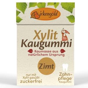 Birkengold Xylit Kaugummi mit natürlicher Kaumasse Zimt 28 g Flip Top kaufen. Xylit Kaugummi kaufen von Birkengold, gesüßt mit zahnfreundlichem Birkenzucker