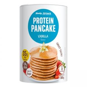 Body Attack Protein Pancakes Backmischung Vanille 300 g Dose. Protein Pancakes Fertigmischung für Pfannkuchen und Waffeln mit viel Eiweiß! Backmischung