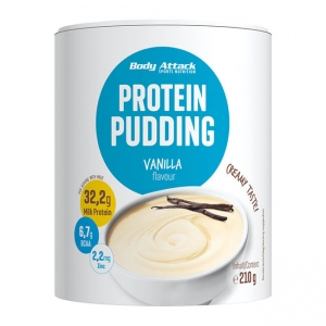 Body Attack Proteinpudding Vanille 210 g Dose online kaufen. Body Attack Proteinpudding Vanille mit 30 g Eiweiß / Protein kaufen. Vanillepudding kaufen