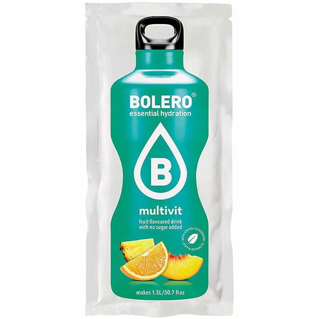 Bolero Instant Multivitamin Getränkepulver. Bolero Instant im 9 g Beutel kaufen! Bolero Instant Erfrischungs Getränkepulver Beutel für fertiges Getränk