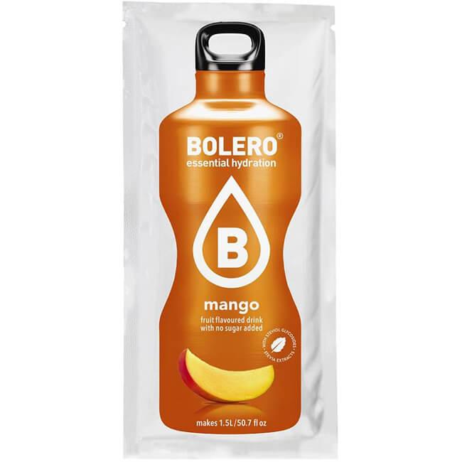 Bolero Instant Mango Getränkepulver. Bolero Instant im 9 g Beutel kaufen! Bolero Instant Erfrischungs Getränkepulver Beutel für fertiges Getränk