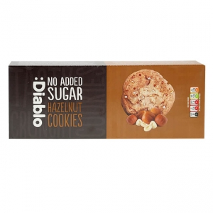 Diablo Hazelnut Cookies zuckerfreie Kekse 135 g kaufen. Kekse ohne Zucker Zusatz von Diablo kaufen. Kalorienreduzierte Kekse kaufen! Kohlenhydrate reduziert