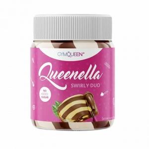 GymQueen Queenella Schoko Haselnuss Creme weise Schokolade 250 g Glas. 90% weniger Zucker, ohne Zucker Zusatz, gesüßt mit Stevia und Erythrit. Queenella