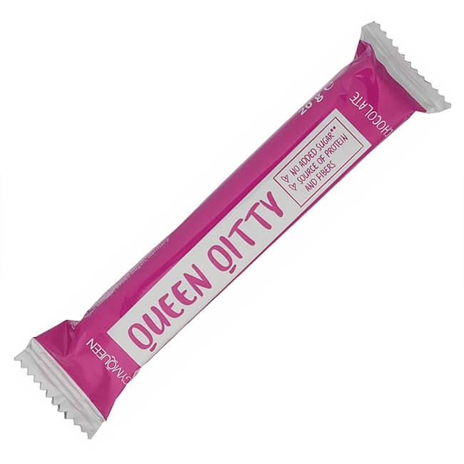 GymQueen Qitty Proteinwaffel Snack mit Vollmilchschokolade 20 g. Nur 99 kcal, 20% Protein, 11% Ballaststoffe & nur 0,82 g Zucker. GymQueen Qitty kaufen!