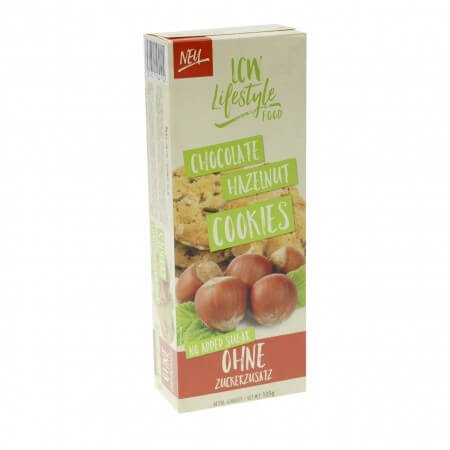 LCW Cookies Kekse ohne Zucker Zusatz Schoko-Haselnuss 135 g online kaufen. Zucker reduzierte Kekse von LCW kaufen. Ohne Zucker, gesüßt mit Maltit!