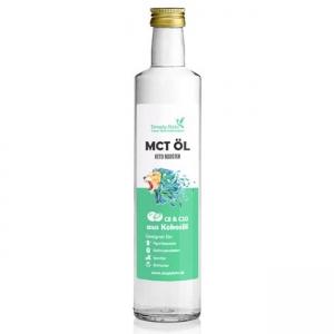 Simply Keto MCT-Öl Keto Booster 500 ml Glasflasche. MCT Öl online kaufen von Simply Keto. Die MCT Öl Premium Qualität in der 500ml Flasche kaufen!