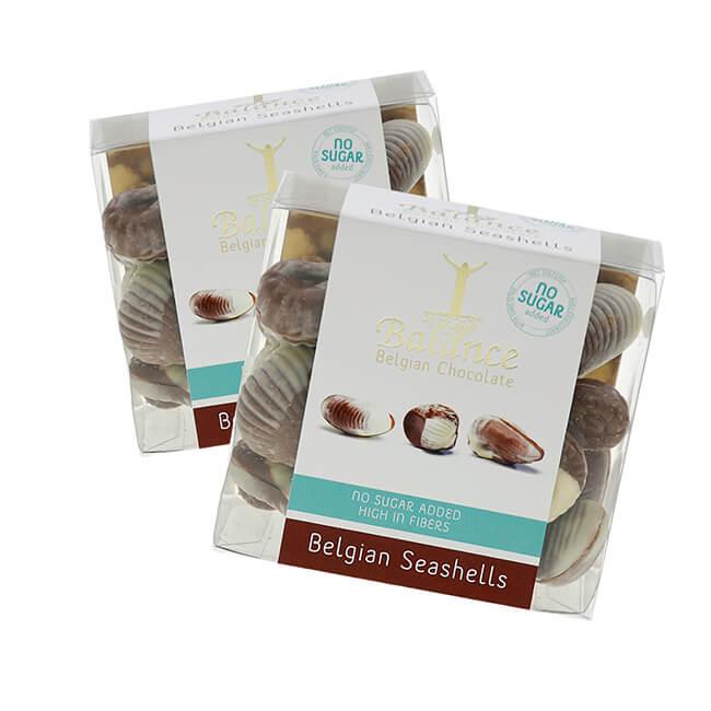 Balance Belgian Seashells Schokolade mit Haselnussfüllung ohne Zuckerzusatz mit Süßungsmitteln 170 g. Balance Belgian Schokolade ohne Zucker online kaufen