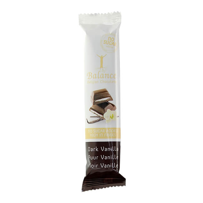 Balance Schokoriegel Dark Vanilla dunkle Vanille ohne Zuckerzusatz 35 g. Balance Schokoriegel ohne Zuckerzusatz online kaufen. Balance Riegel dunkle Vanille