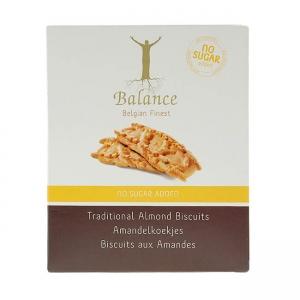 Balance Traditional Almond Biscuits feine belgische Kekse ohne Zuckerzusatz mit Mandeln gebacken 110 g. Belgische Kekse ohne Zucker Zusatz kaufen!