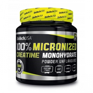 BioTech USA Creatine Monohydrate Pulver geschmacksneutral 300 g Dose. Creatin kaufen (Kreatin). 100 % Creatine Monohydrate ist aus reinem Creatin / Pulver!