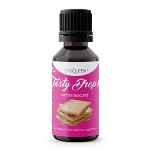 GymQueen Tasty Drops Butterkeks 30 ml kaufen. GymQueen Flavour Drops kaufen. OHNE Kalorien, Zucker, Fett, KH, uvm. Flavour Drops online kaufen!