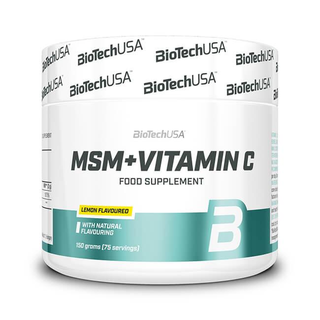 BioTech USA MSM Vitamin C Nahrungsergänzung Pulver Zitrone 150 g Dose kaufen. Zitronengeschmack, Vitamin C und MSM. BioTech USA MSM Vitamin C kaufen
