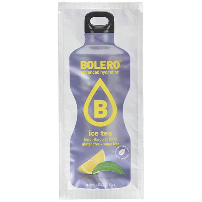 Bolero Instant ICE TEA LEMON Getränkepulver. Bolero Instant im 8 g Beutel kaufen! Bolero Getränkepulver Eistee Zitrone für 1,5 l fertiges Getränk. Köstlich!