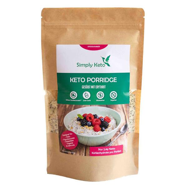 Simply Keto Porridge vegan laktosefrei keto paleo glutenfrei 260 g jetzt kaufen! Ohne Getreide, mit vielen gesunden Fetten, einfache Zubereitung.