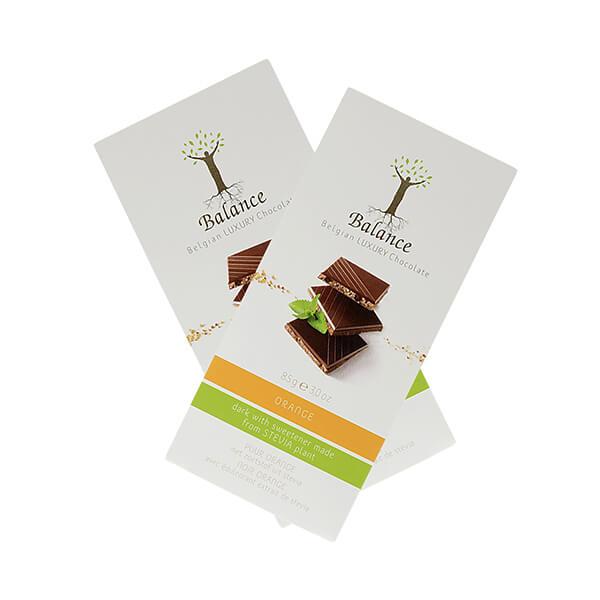 Balance Belgian Luxury Chocolate mit Stevia Dark Orange 85 g. Edle, dunkle Orangenschokolade aus Belgien. Mit wertvollem Stevia gesüßt.