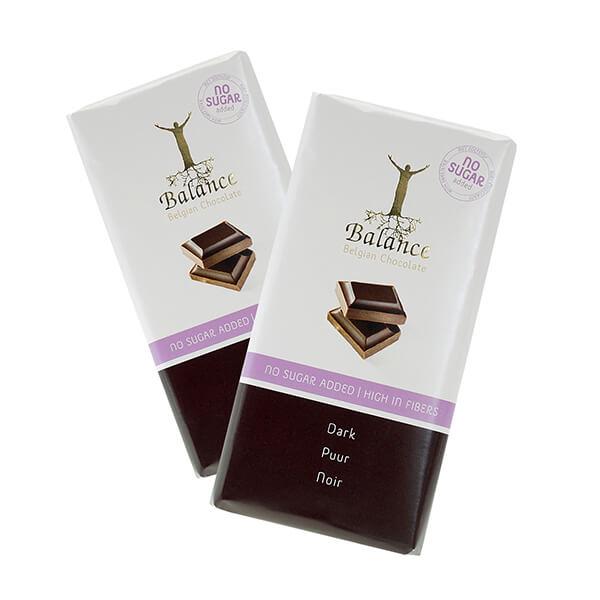 Balance Schokoladentafel Dark Zartbitter ohne Zuckerzusatz 100 g | reinster Kakao und feinste Zutaten aus aller Welt | ein Genuss für die Sinne