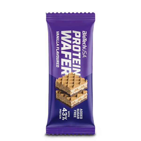 BiotechUSA Protein Wafer Proteinwaffel VANILLA Vanillegeschmack 35 g. Hoher Proteingehalt vereint mit köstlichen Waffeln. High Protein!