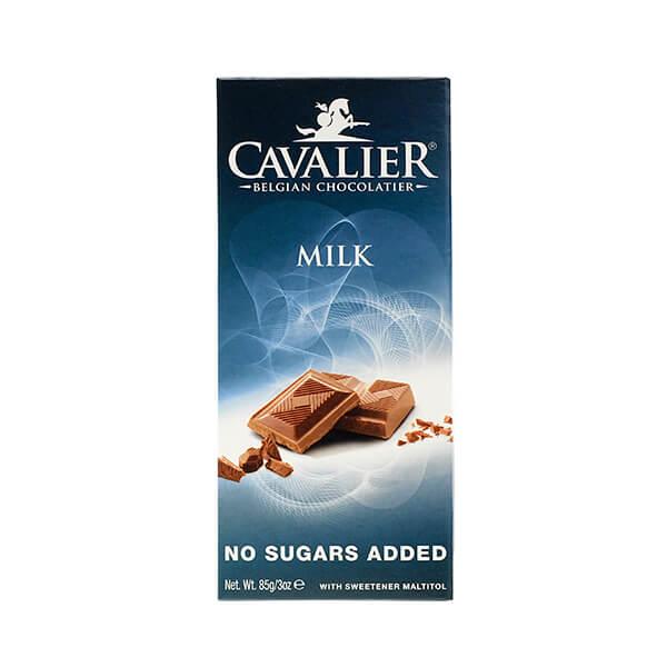 Cavalier Schokoladentafel MILK Milchschokolade 85 g. Hochwertige Milchschokolade mit Maltit gesüßt. Optimaler Genuss zwischendurch.