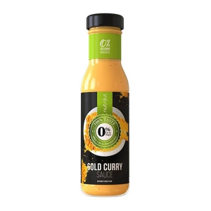 Nutriful Gold Curry Sauce Dressing Glasflasche 250 ml. Köstliches Dressing mit 2 Kalorien pro Portion. Low Carb! Echter Geschmack.