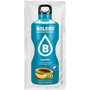 Bolero Instant Erfrischungsgetränkepulver 9 g Beutel EXOTIC für 1,5 l fertiges Getränk! Bolero Instant Getränkepulver Beutel für fertiges Getränk.
